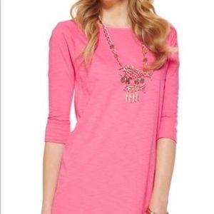 Lilly Pulitzer | Pink Tee Shirt Dress 3/4 Sleeve